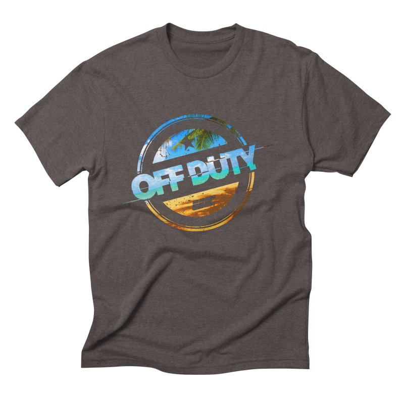 Off Duty - Beach Edition Men's Triblend T-Shirt by uniquego's Artist Shop