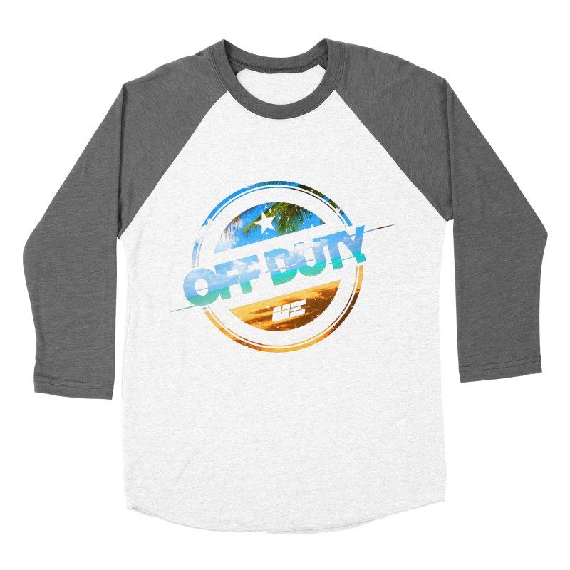 Off Duty - Beach Edition Women's Baseball Triblend Longsleeve T-Shirt by uniquego's Artist Shop