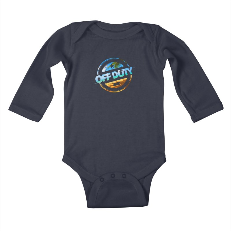 Off Duty - Beach Edition Kids Baby Longsleeve Bodysuit by uniquego's Artist Shop