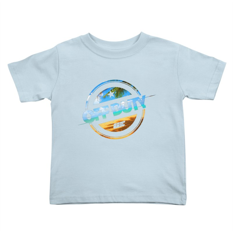 Off Duty - Beach Edition Kids Toddler T-Shirt by uniquego's Artist Shop