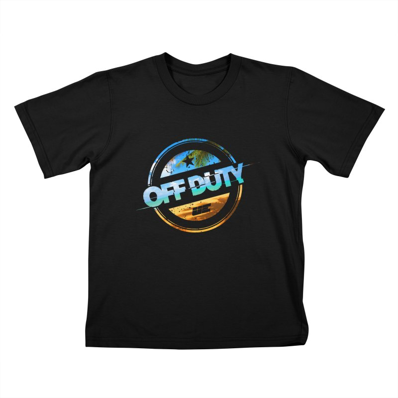Off Duty - Beach Edition Kids T-Shirt by uniquego's Artist Shop