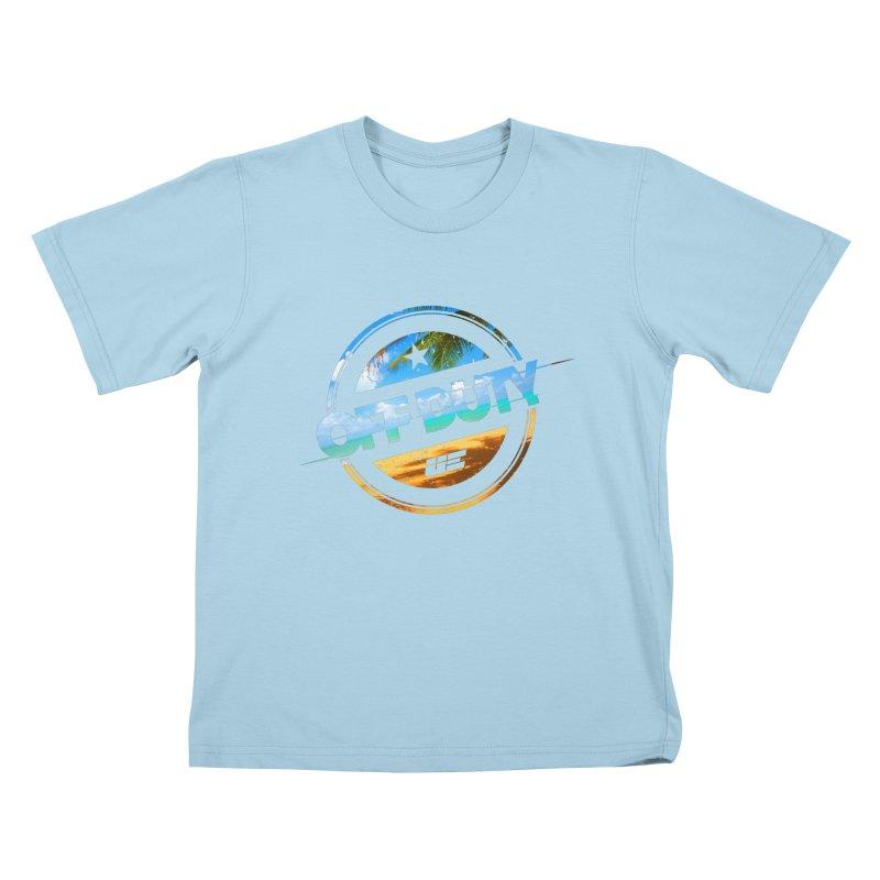 Off Duty - Beach Edition Kids T-Shirt by uniquego's Artist Shop