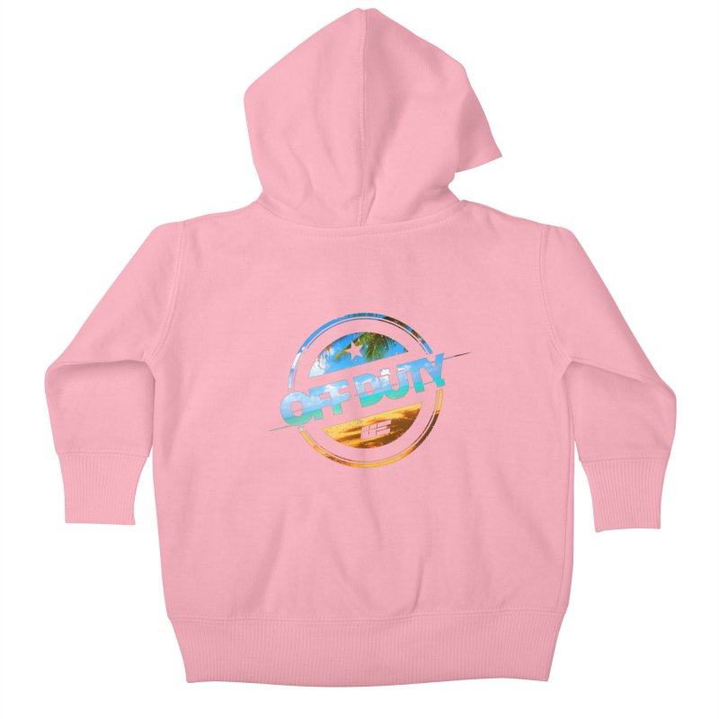Off Duty - Beach Edition Kids Baby Zip-Up Hoody by uniquego's Artist Shop