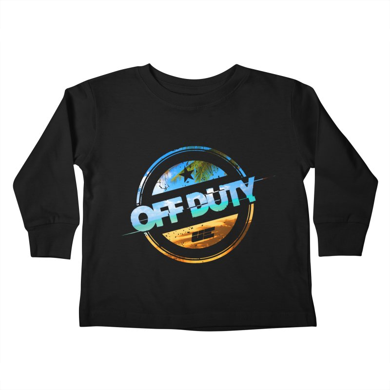 Off Duty - Beach Edition Kids Toddler Longsleeve T-Shirt by uniquego's Artist Shop