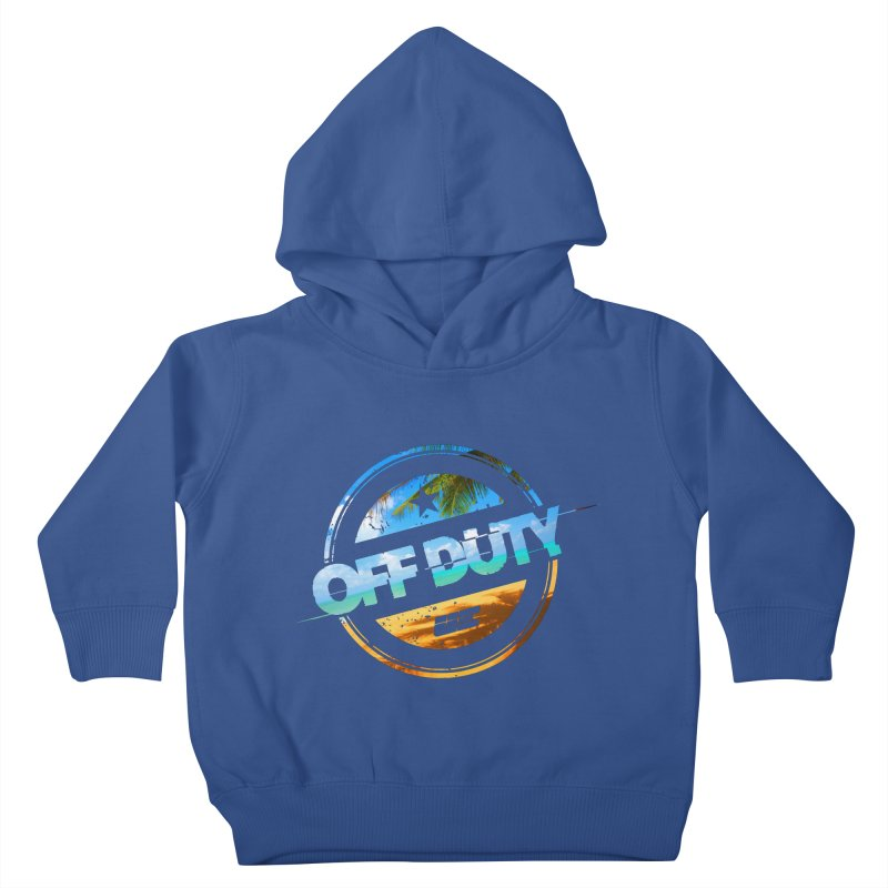 Off Duty - Beach Edition Kids Toddler Pullover Hoody by uniquego's Artist Shop