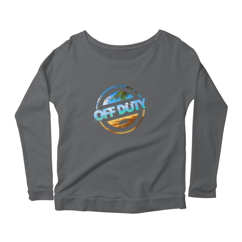 Off Duty - Beach Edition Women's Scoop Neck Longsleeve T-Shirt by uniquego's Artist Shop
