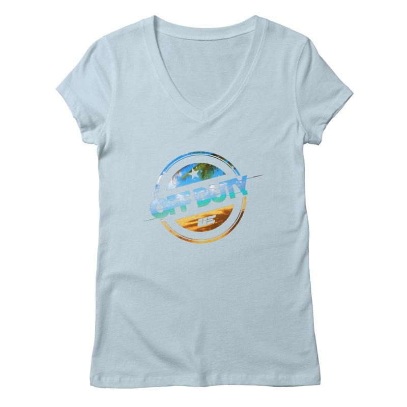 Off Duty - Beach Edition Women's Regular V-Neck by uniquego's Artist Shop