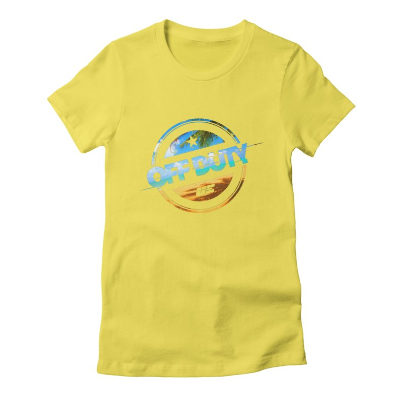 Off Duty - Beach Edition Women's Fitted T-Shirt by uniquego's Artist Shop