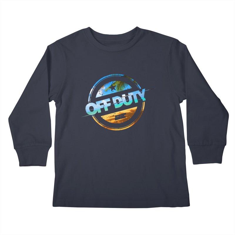 Off Duty - Beach Edition Kids Longsleeve T-Shirt by uniquego's Artist Shop