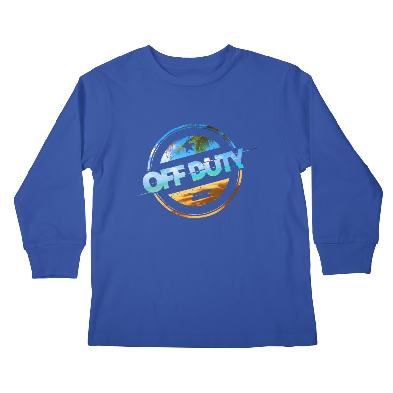 Off Duty - Beach Edition Kids Longsleeve T-Shirt by uniquego's Artist Shop