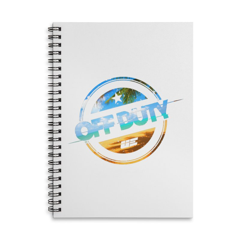 Off Duty - Beach Edition Accessories Lined Spiral Notebook by uniquego's Artist Shop