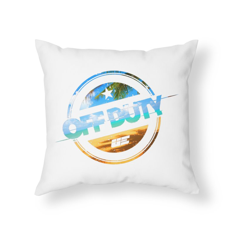Off Duty - Beach Edition Home Throw Pillow by uniquego's Artist Shop