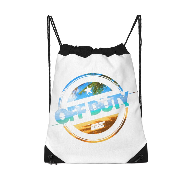 Off Duty - Beach Edition Accessories Drawstring Bag Bag by uniquego's Artist Shop