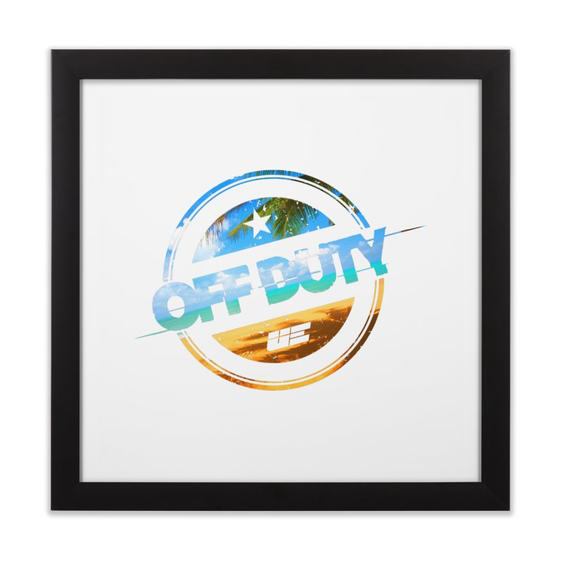 Off Duty - Beach Edition Home Framed Fine Art Print by uniquego's Artist Shop
