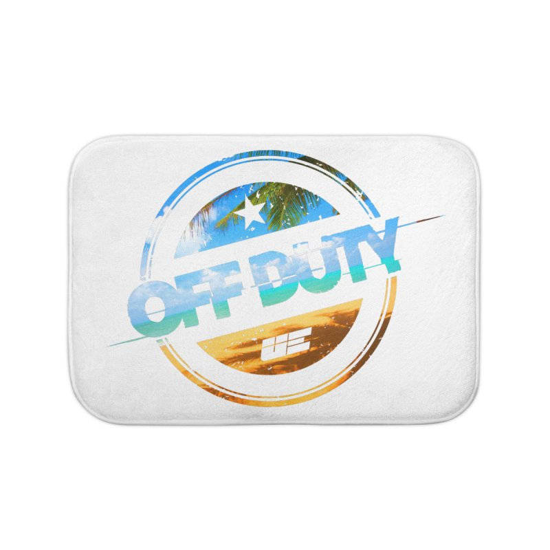 Off Duty - Beach Edition Home Bath Mat by uniquego's Artist Shop