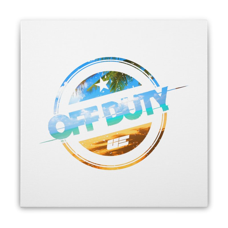 Off Duty - Beach Edition Home Stretched Canvas by uniquego's Artist Shop