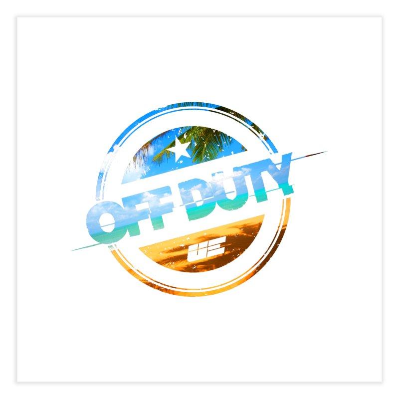Off Duty - Beach Edition Home Fine Art Print by uniquego's Artist Shop