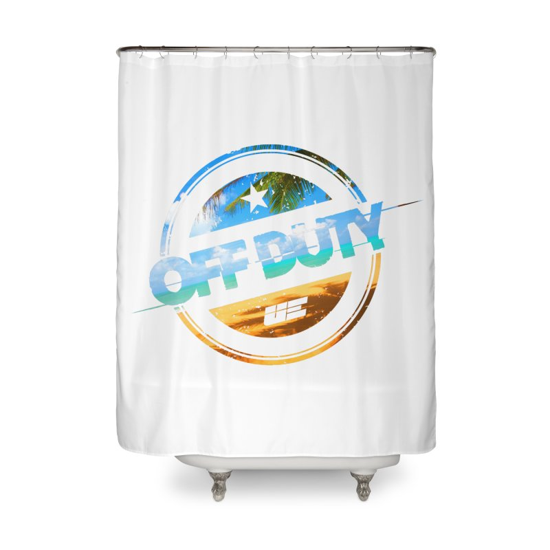 Off Duty - Beach Edition Home Shower Curtain by uniquego's Artist Shop