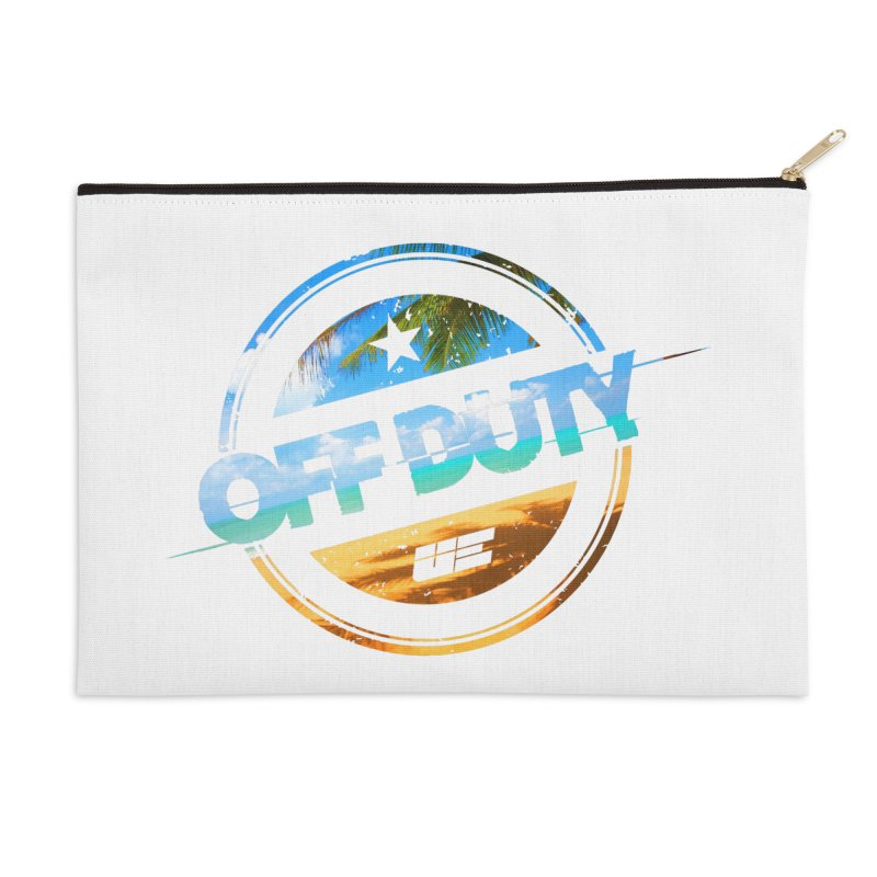 Off Duty - Beach Edition Accessories Zip Pouch by uniquego's Artist Shop