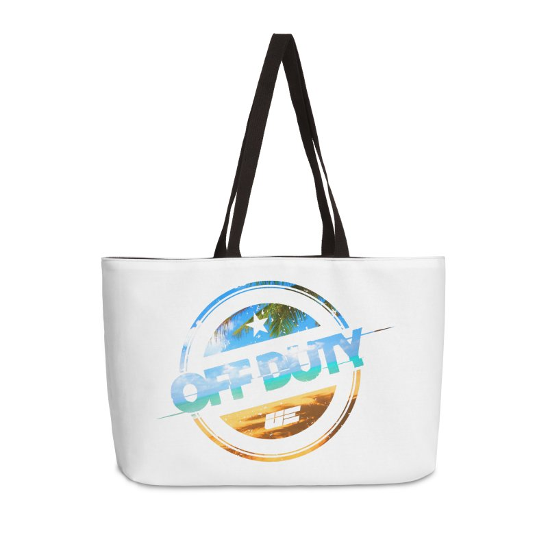 Off Duty - Beach Edition Accessories Weekender Bag Bag by uniquego's Artist Shop