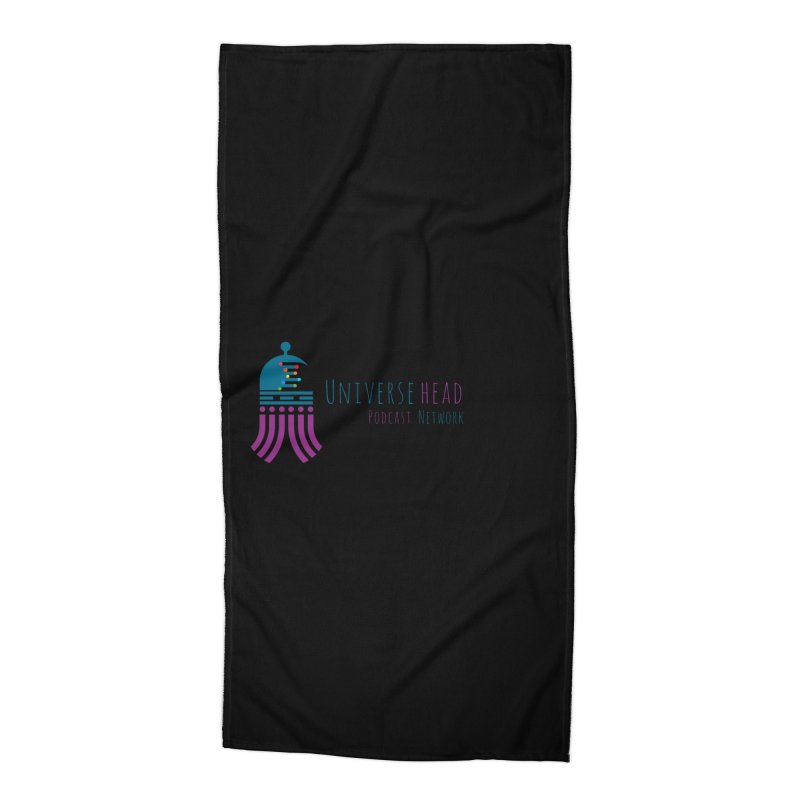 universeSquid w/text Accessories Beach Towel by Universehead Podcast Network Store