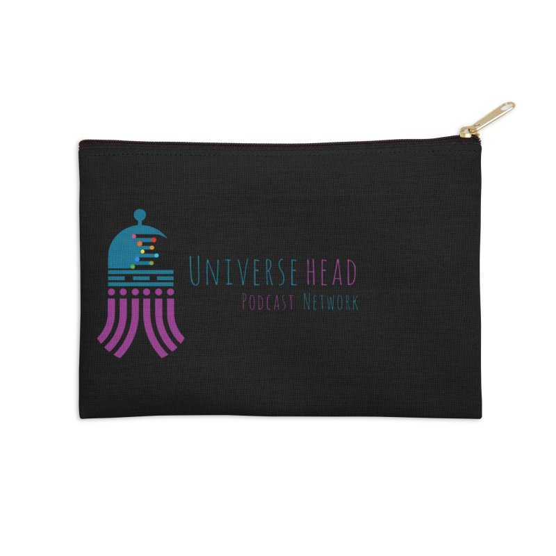 universeSquid w/text Accessories Zip Pouch by Universehead Podcast Network Store