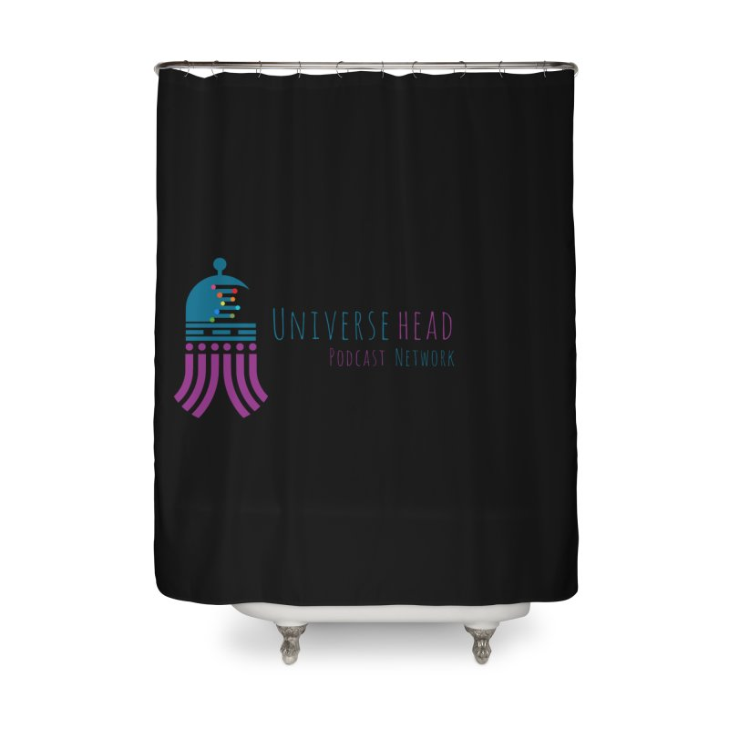 universeSquid w/text Home Shower Curtain by Universehead Podcast Network Store