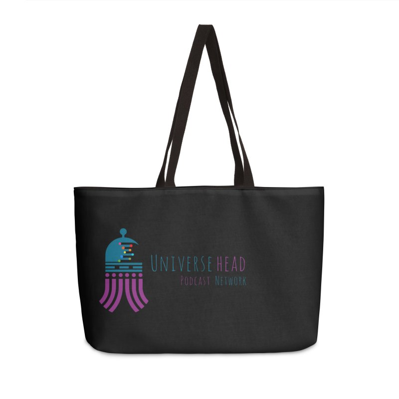 universeSquid w/text Accessories Weekender Bag Bag by Universehead Podcast Network Store