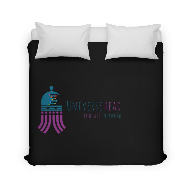 universeSquid w/text Home Duvet by Universehead Podcast Network Store