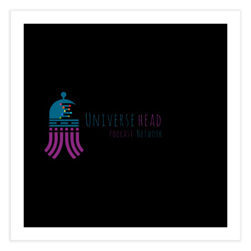 universeSquid w/text Home Fine Art Print by Universehead Podcast Network Store