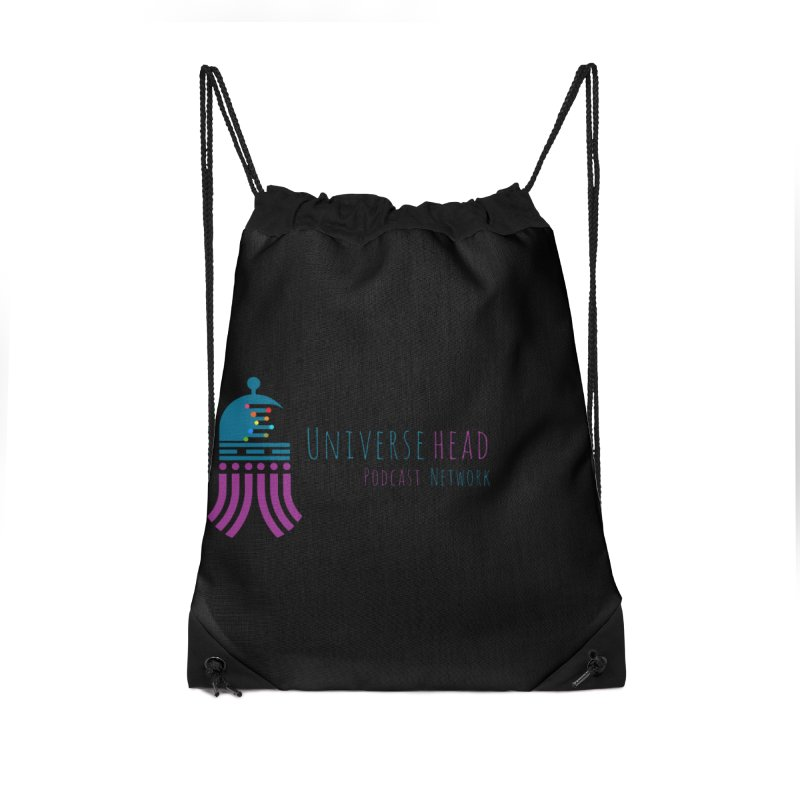 universeSquid w/text Accessories Drawstring Bag Bag by Universehead Podcast Network Store