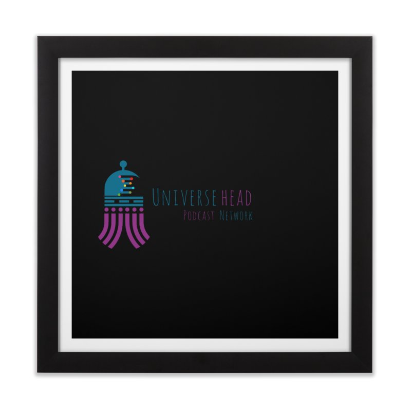 universeSquid w/text Home Framed Fine Art Print by Universehead Podcast Network Store