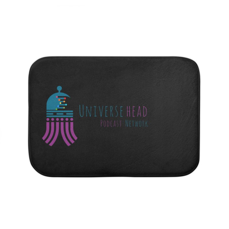 universeSquid w/text Home Bath Mat by Universehead Podcast Network Store