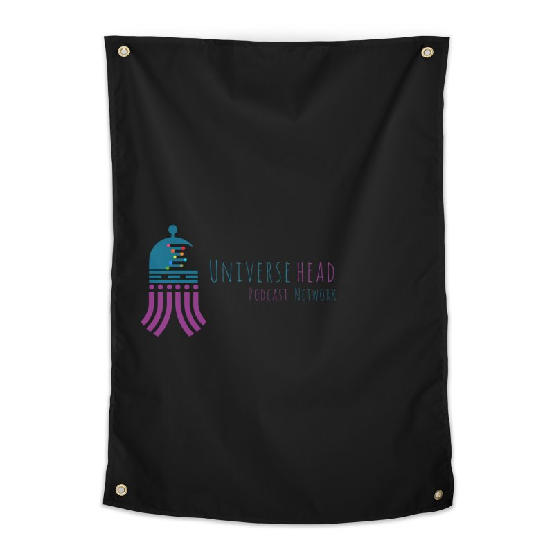 universeSquid w/text Home Tapestry by Universehead Podcast Network Store