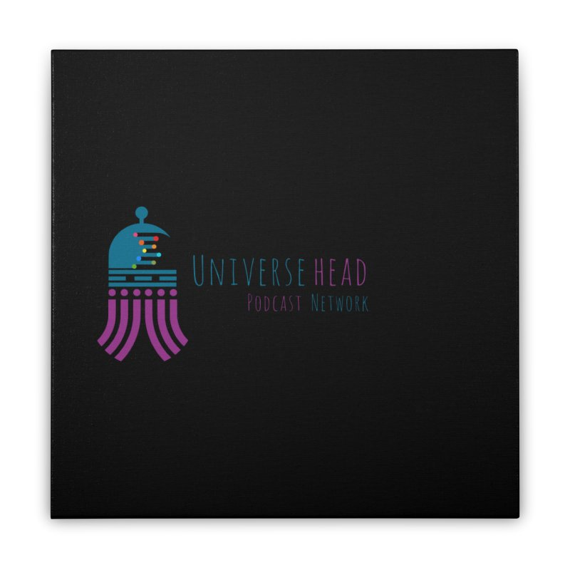 universeSquid w/text Home Stretched Canvas by Universehead Podcast Network Store