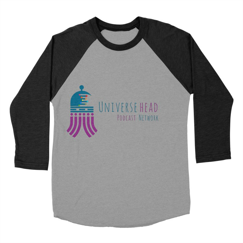 universeSquid w/text Women's Baseball Triblend Longsleeve T-Shirt by Universehead Podcast Network Store