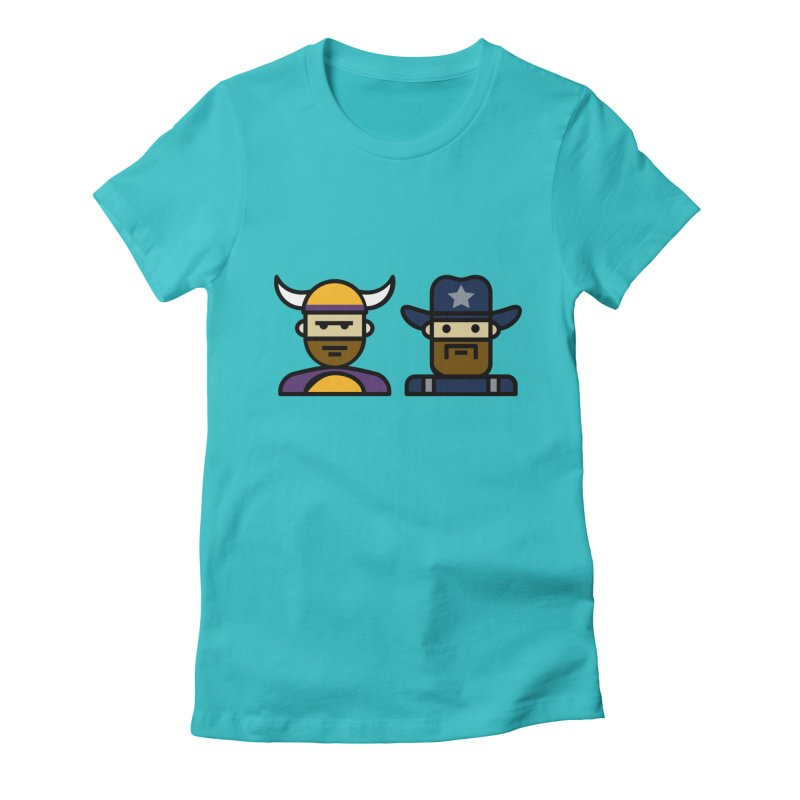 Team Push Off Women's Fitted T-Shirt by Universehead Podcast Network Store