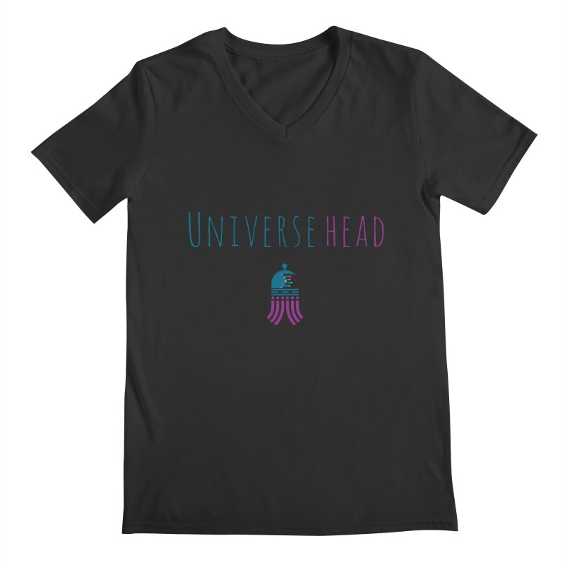 Universehead Men's Regular V-Neck by Universehead Podcast Network Store