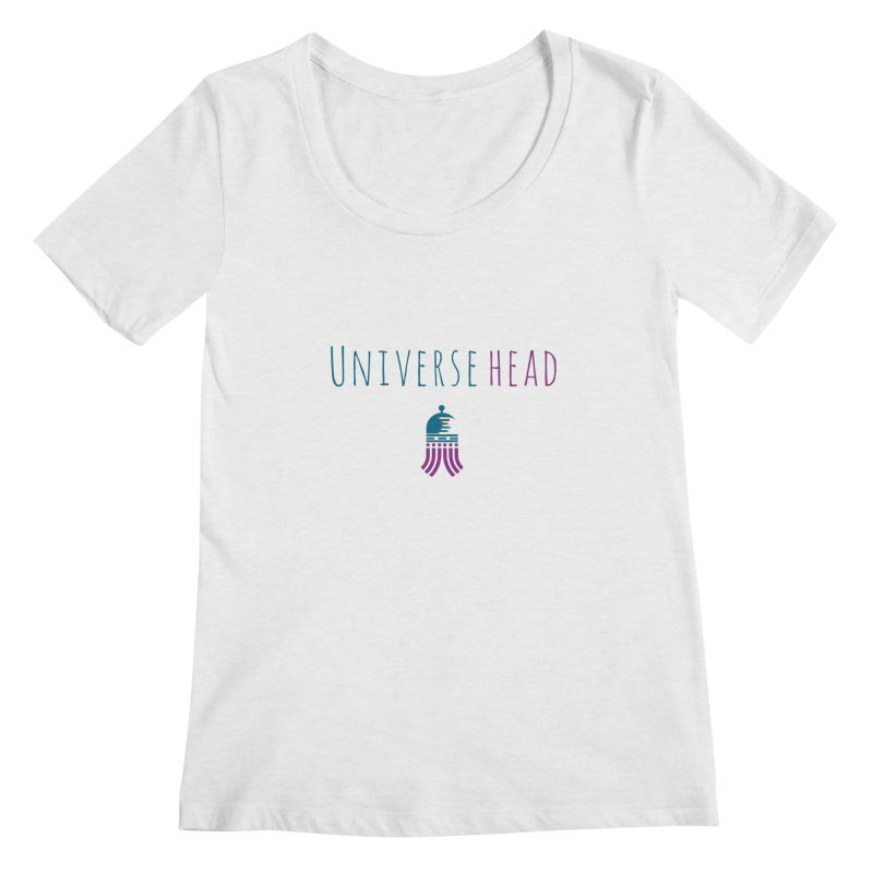 Universehead Women's Regular Scoop Neck by Universehead Podcast Network Store
