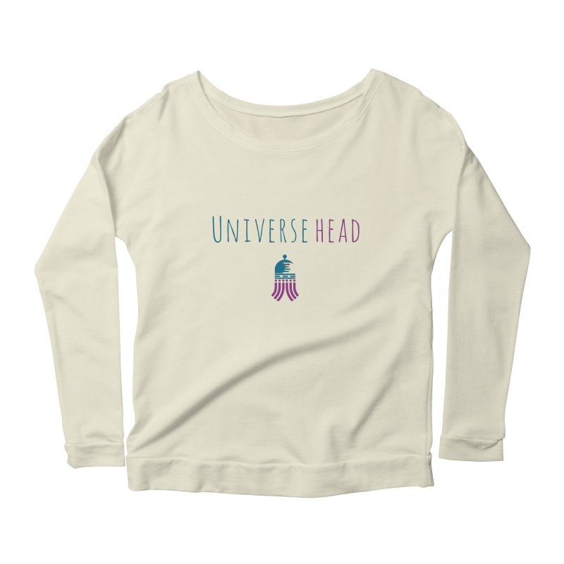 Universehead Women's Scoop Neck Longsleeve T-Shirt by Universehead Podcast Network Store
