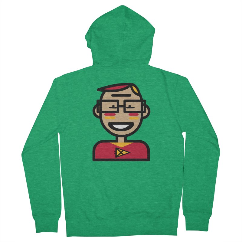 Team Garrett Men's French Terry Zip-Up Hoody by Universehead Podcast Network Store