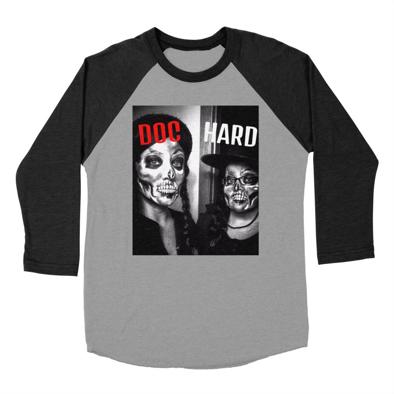 Doc Hard Men's Baseball Triblend Longsleeve T-Shirt by Universehead Podcast Network Store