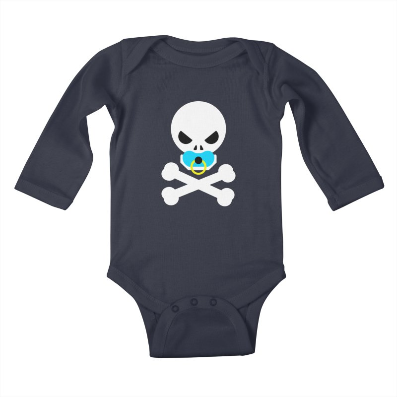 Jolly Roger's Baby Kids Baby Longsleeve Bodysuit by Universehead Podcast Network Store