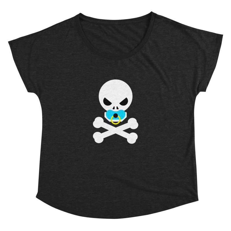 Jolly Roger's Baby Women's Dolman Scoop Neck by Universehead Podcast Network Store