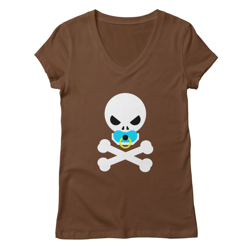 Jolly Roger's Baby Women's Regular V-Neck by Universehead Podcast Network Store