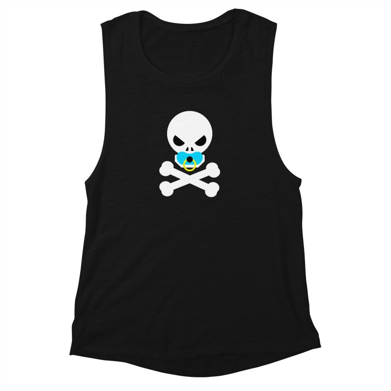 Jolly Roger's Baby Women's Muscle Tank by Universehead Podcast Network Store