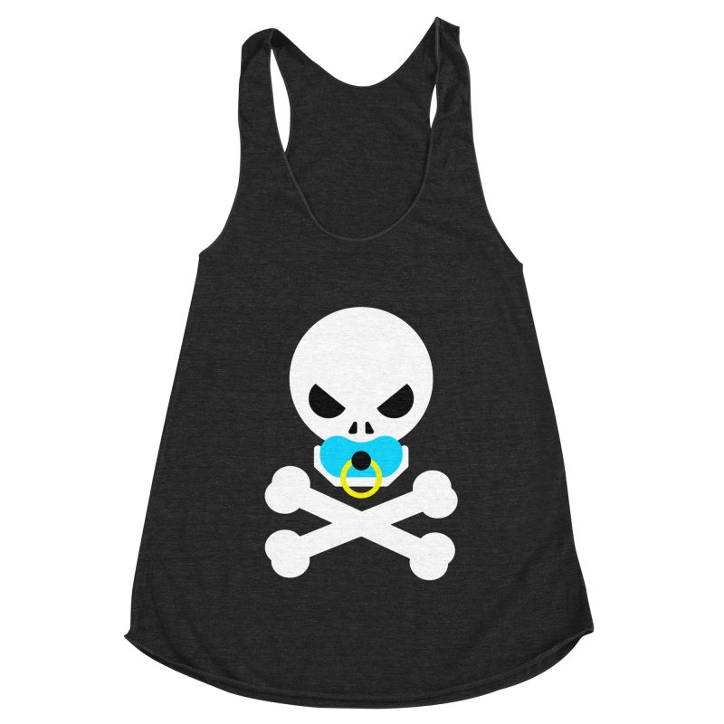 Jolly Roger's Baby Women's Racerback Triblend Tank by Universehead Podcast Network Store
