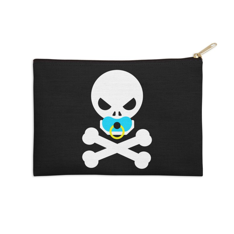 Jolly Roger's Baby Accessories Zip Pouch by Universehead Podcast Network Store