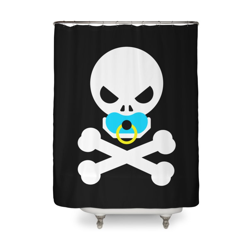 Jolly Roger's Baby Home Shower Curtain by Universehead Podcast Network Store