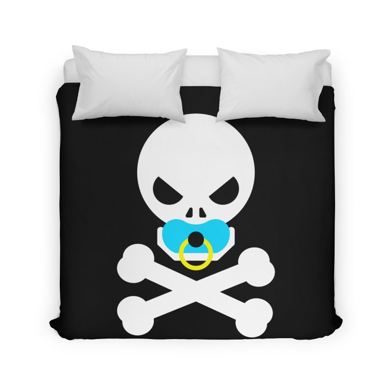 Jolly Roger's Baby Home Duvet by Universehead Podcast Network Store